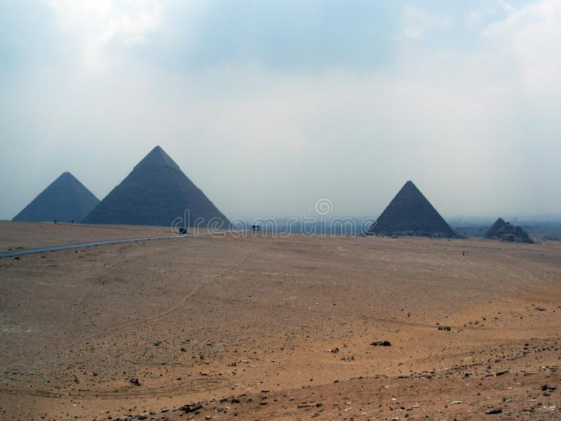 Pyramids of Giza: Cairo Egypt royalty free stock images