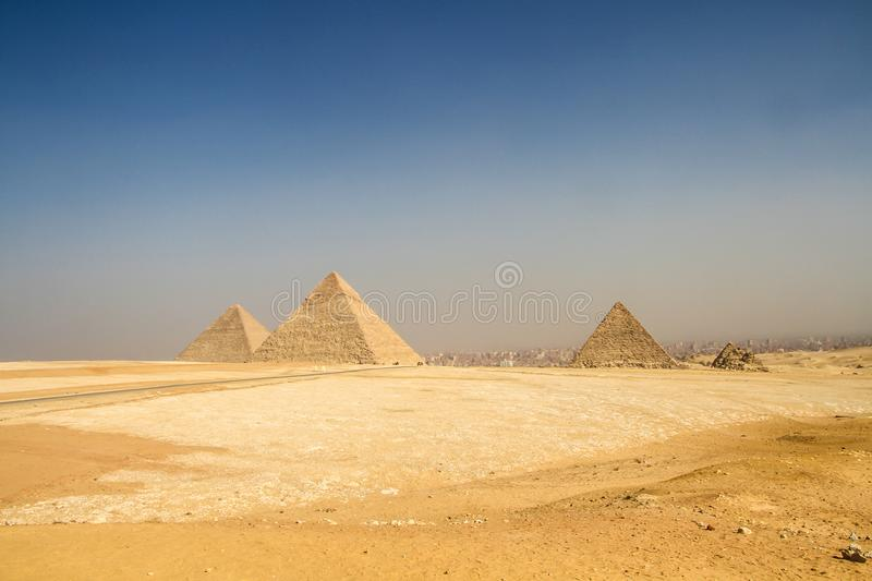 Pyramids Of Giza, Egypt. View Pyramids Of Giza, Egypt royalty free stock photos