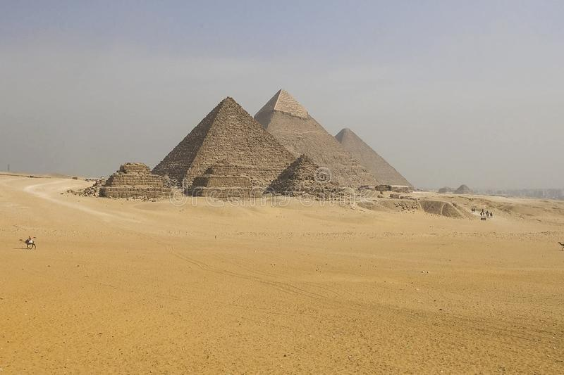 Pyramids of giza. Great pyramids of Egypt. The seventh wonder of the world. Ancient megaliths. Pyramids of giza. Great pyramids of Egypt. The seventh wonder of stock photos
