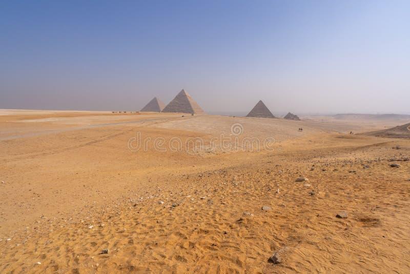 Pyramids of Giza near Cairo Egypt royalty free stock photos