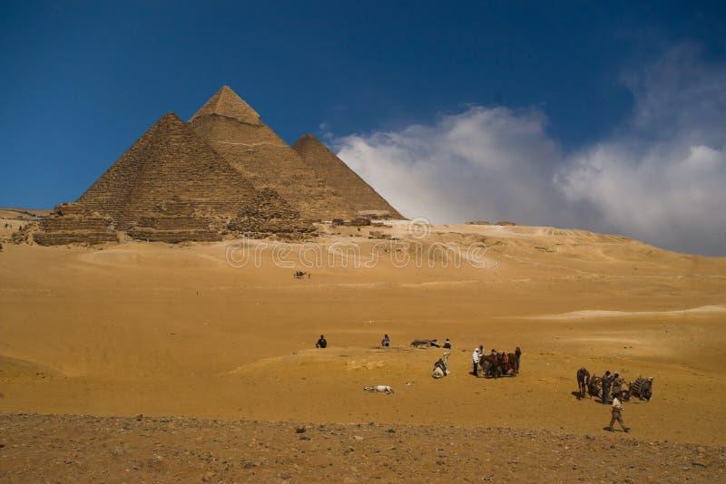 Pyramids group royalty free stock photo