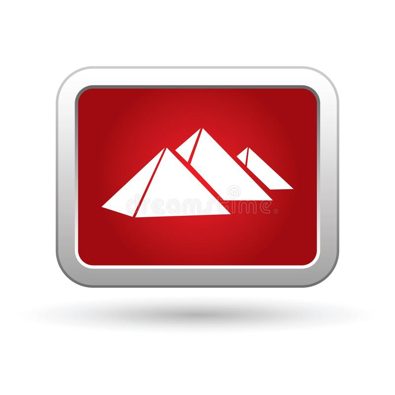 Pyramids icon on the button vector illustration
