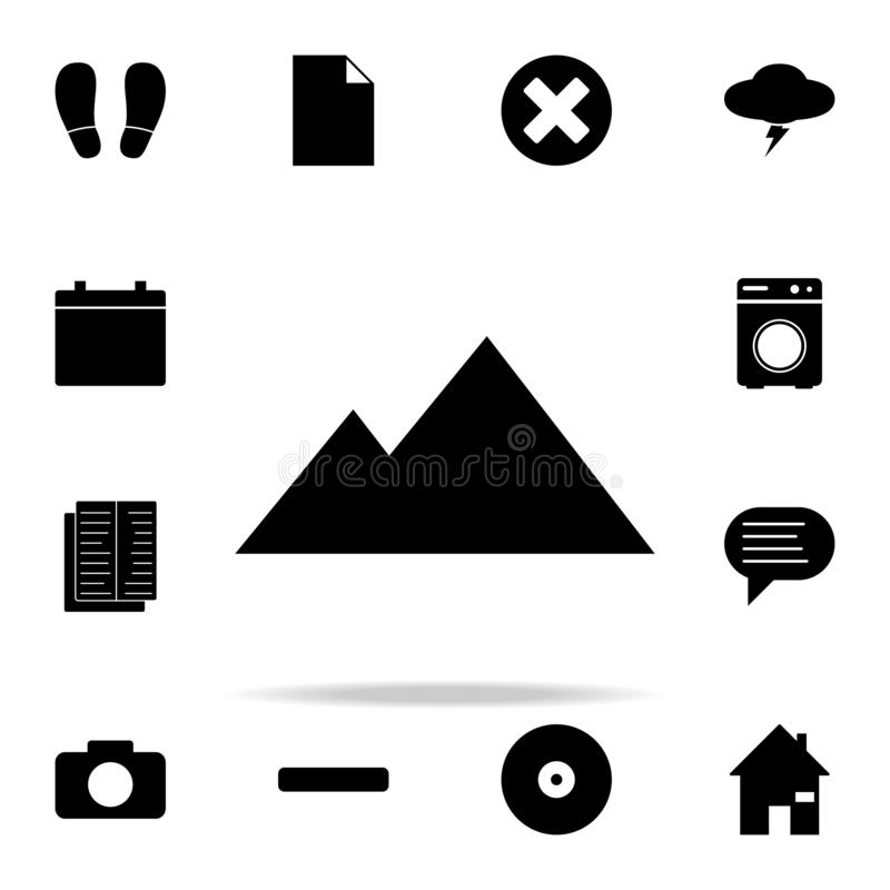 pyramids icon. web icons universal set for web and mobile royalty free illustration