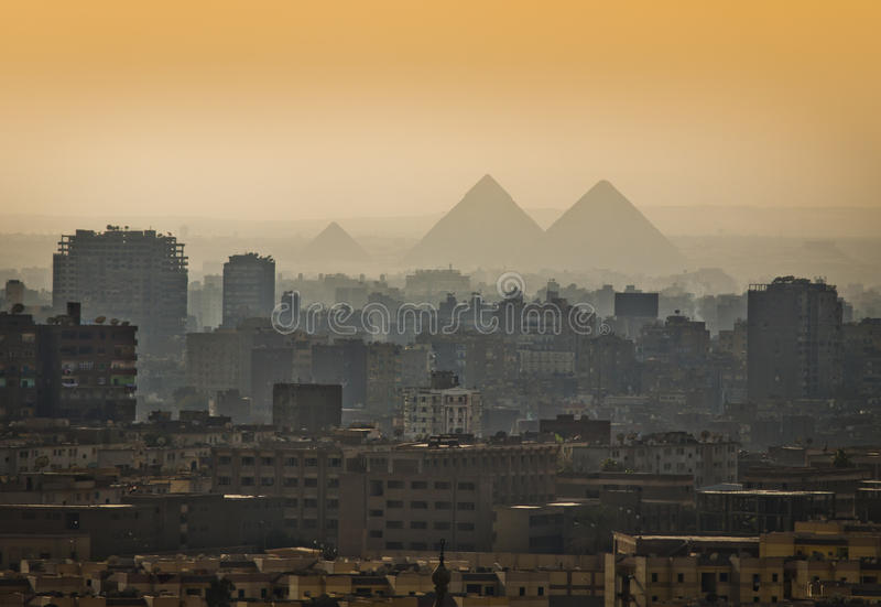 Download Pyramids in the mist. stock photo. Image of civilization - 60842776