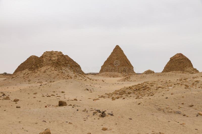 The pyramids at Nuri royalty free stock photo