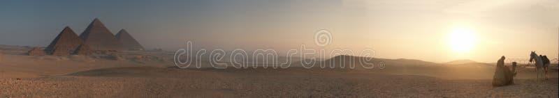 Pyramids sunrise blur 5000x878 royalty free stock images