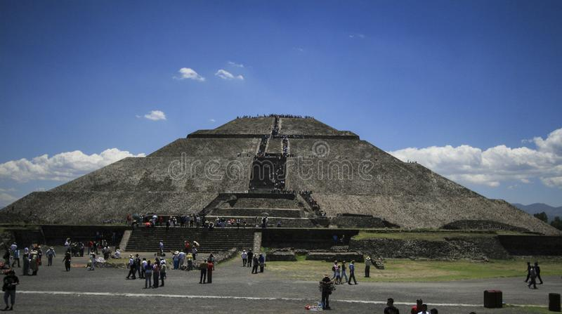Pyramids of Teotihuacan royalty free stock images