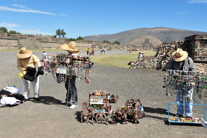 Pyramids of Teotihuacan -Mexico stock photography