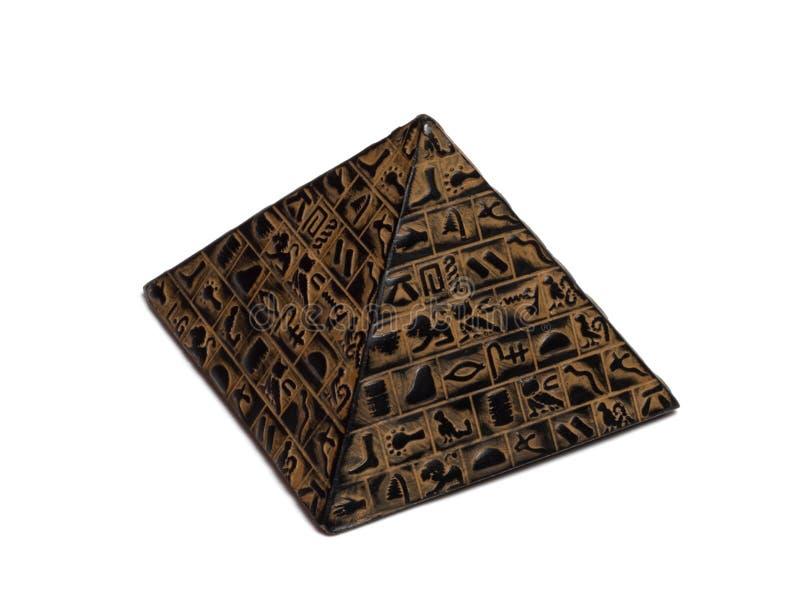 pyramidstatyett arkivfoton