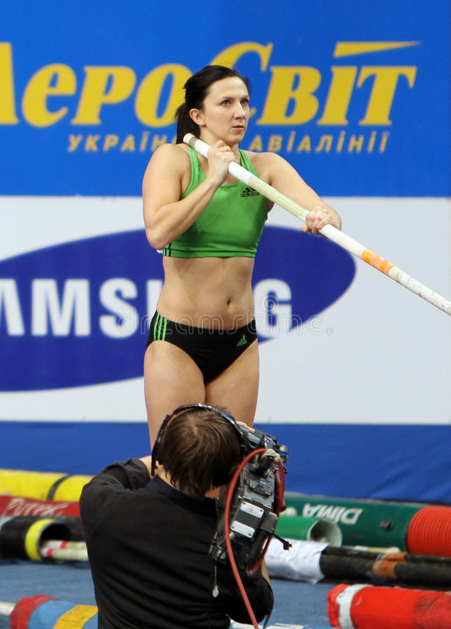 Pyrek Monika - polerad polvaulter fotografering för bildbyråer