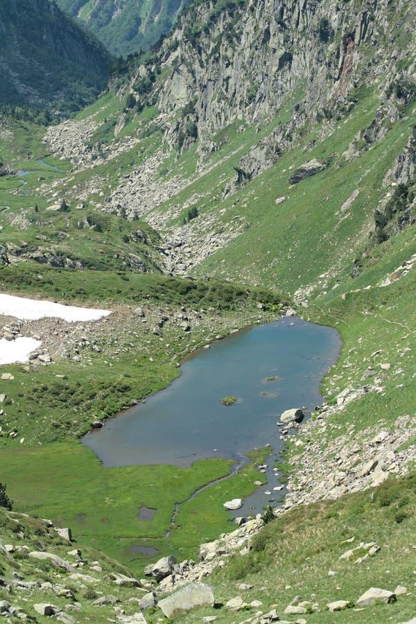 Pyrenean lake in Ariege, France. Pyrenean lake in Ariege, Occitanie in south of the France. lake in Donezan royalty free stock photography