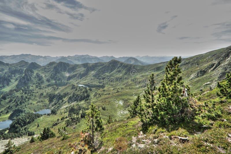 Pyrenean landscape in Ariege, Occitanie in south of France. Landscape in Pyrenees, Ariege, Occitanie in south of France. Balbonne lake in Donezan royalty free stock photos