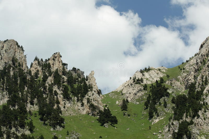 Pyrenean mountain in Ariege, France. Roc de la musique peak in Ariege, Occitanie in south of France stock images