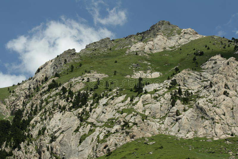 Pyrenean mountain in Ariege, France. Roc de la musique peak in Ariege, Occitanie in south of France stock image