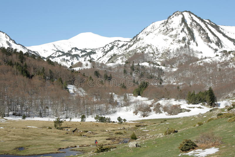 Pyrenean river in Ariege, France. Pyrenean river in Ariege, Occitanie in south of France stock photos