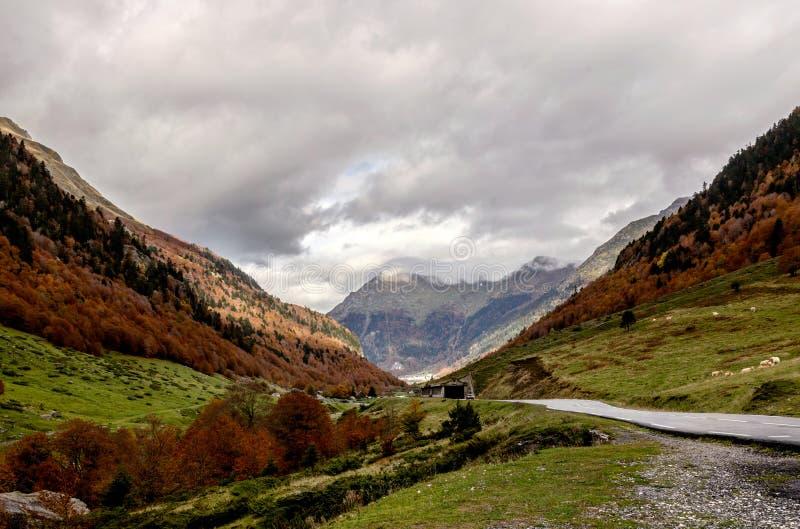 Pyrenees Atlantiques royaltyfria bilder