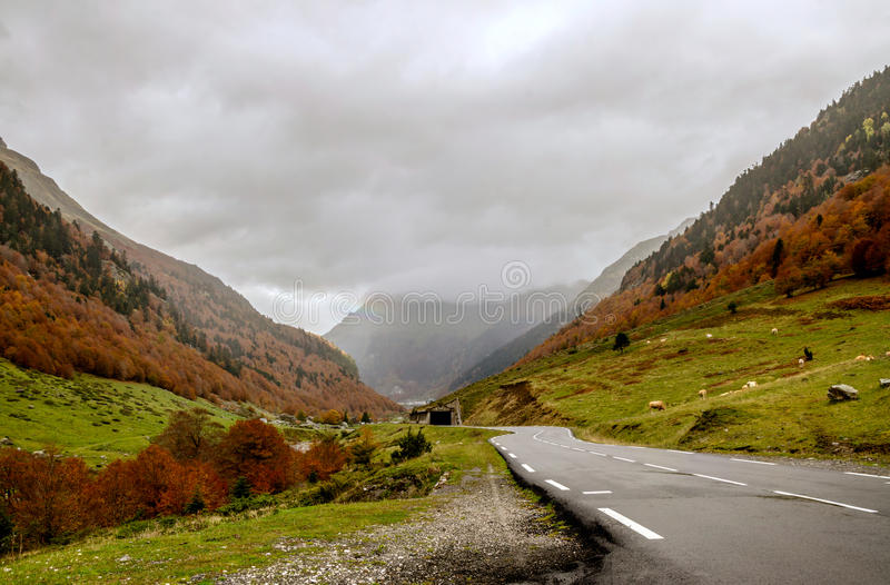 Pyrenees Atlantiques. Urdos is situated in the Pyrenees-Atlantiques in the south-west of France at 50 km from Pau the department capital stock photo