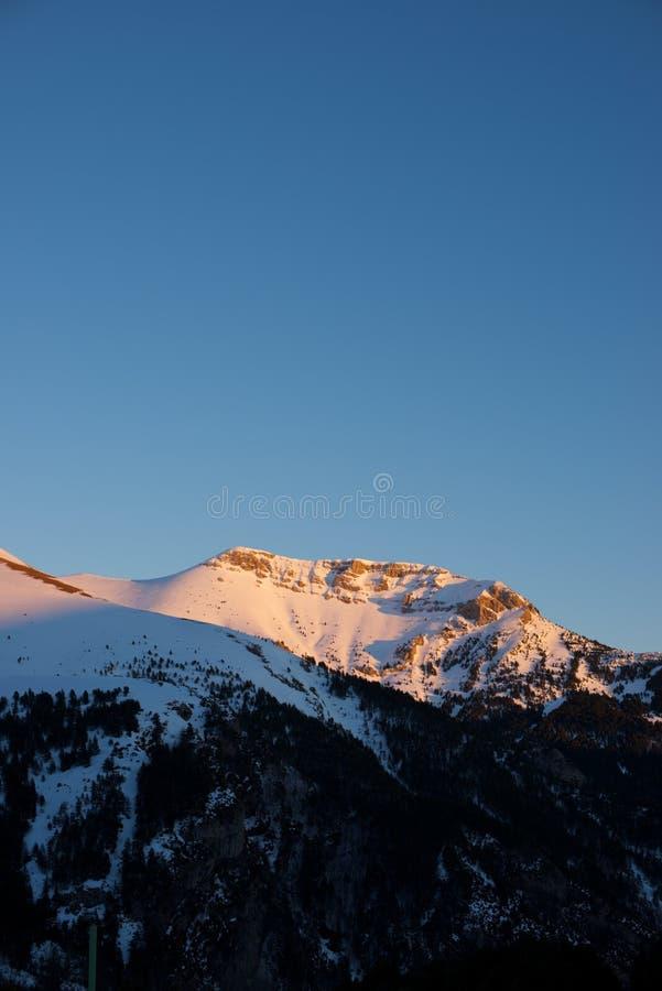 Pyrenees en España imagen de archivo