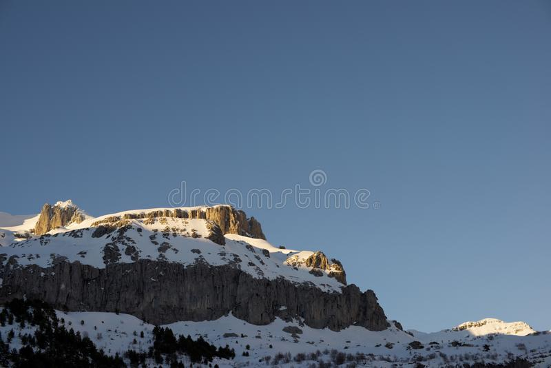 Pyrenees en España foto de archivo libre de regalías