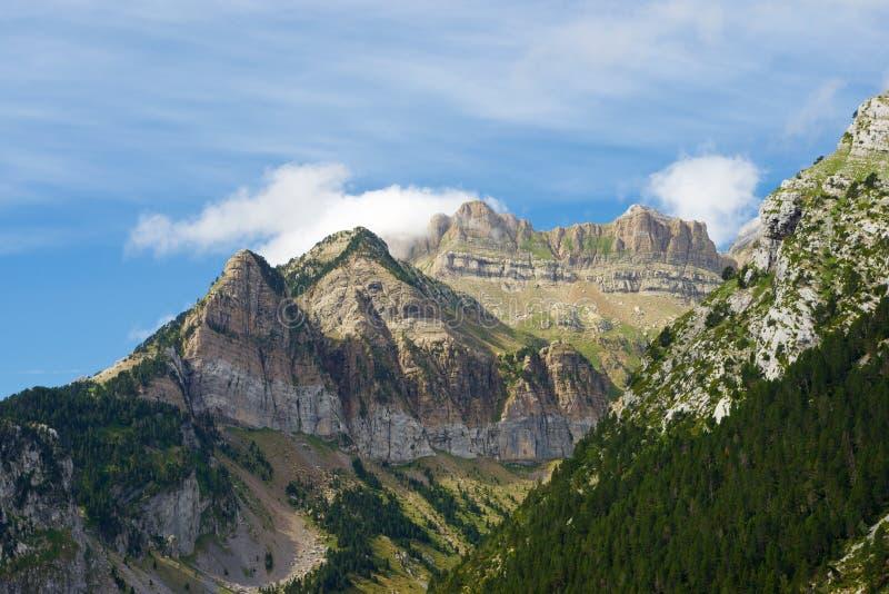 Pyrenees en España foto de archivo