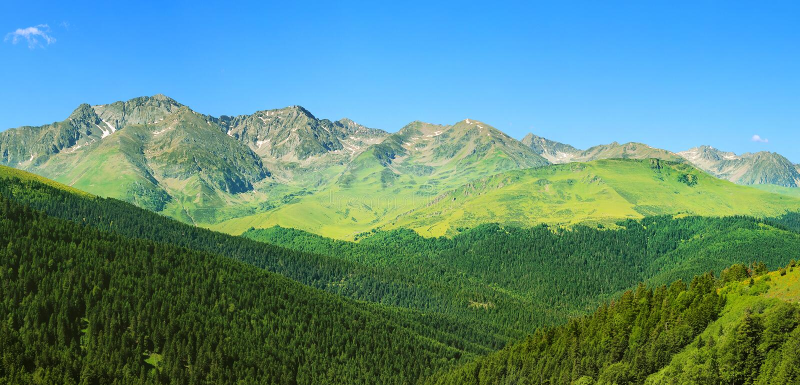 Pyrenees i Andorra arkivbilder