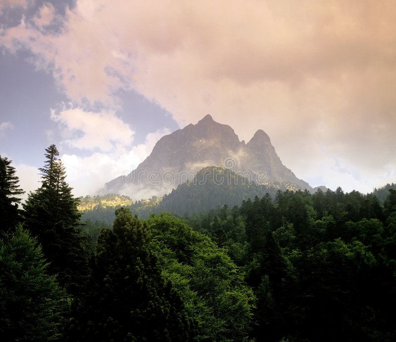 Pyrenees mountain royalty free stock photography