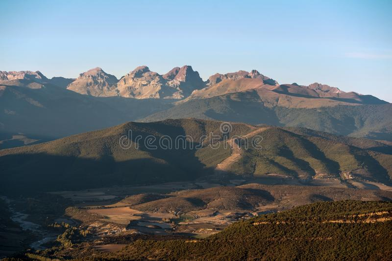 Pyrenees mountains in Huesca, Aragon, Spain. stock photography