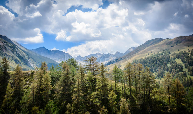 Pyrenees valley royalty free stock photos