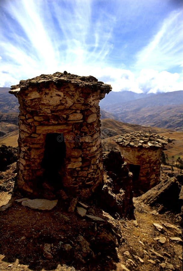 pyres funéraires du Pérou photo libre de droits