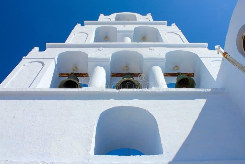 Pyrgos钟楼  免版税图库摄影