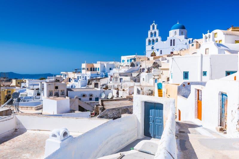 Pyrgos, Cyclades wyspy, Santorini, Grecja zdjęcie royalty free