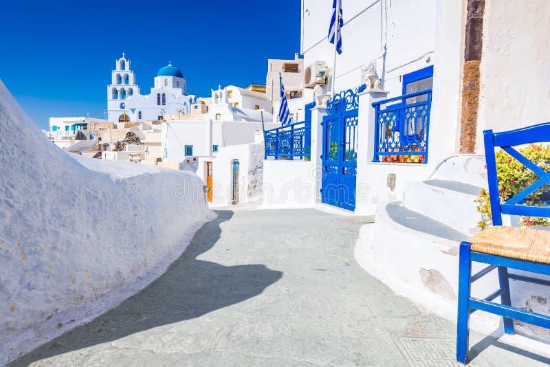 Pyrgos, ilhas de Cyclades, Santorini, Grécia imagens de stock royalty free