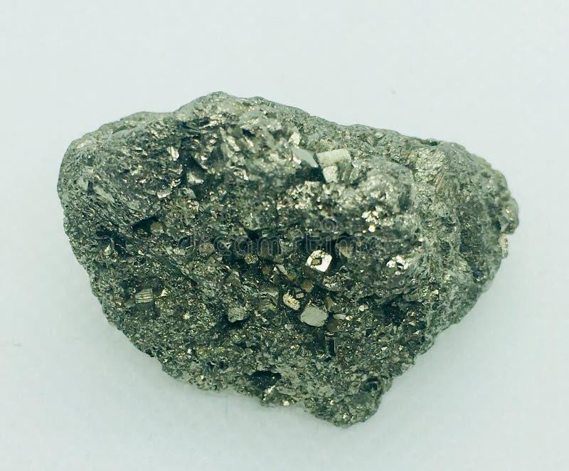 Pyrietkristal stock afbeelding