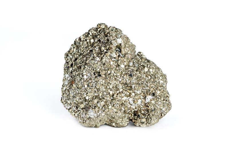 92/5000 pyrite de fer, est un sulfure de fer La pyrite est considérée le soufre minéral photographie stock