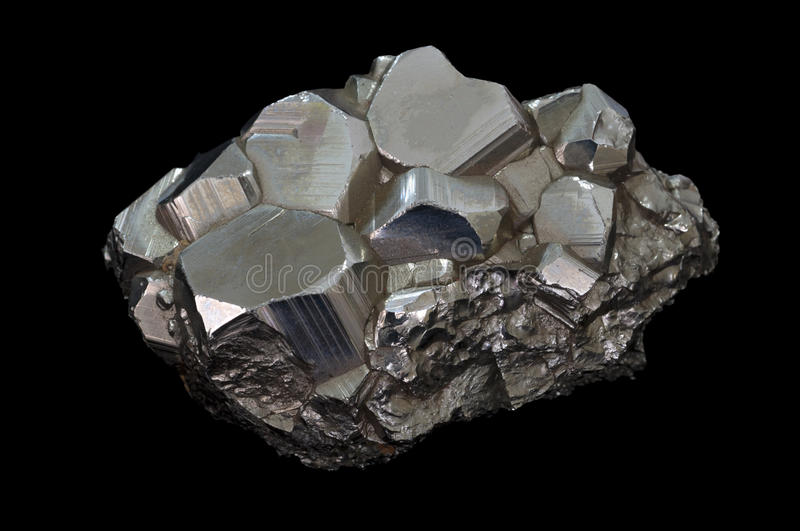 Pyrite mineral stone stock images