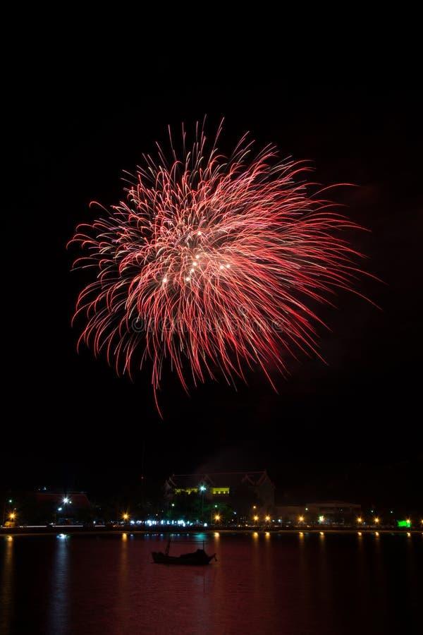 Pyrotechnic дисплей стоковая фотография