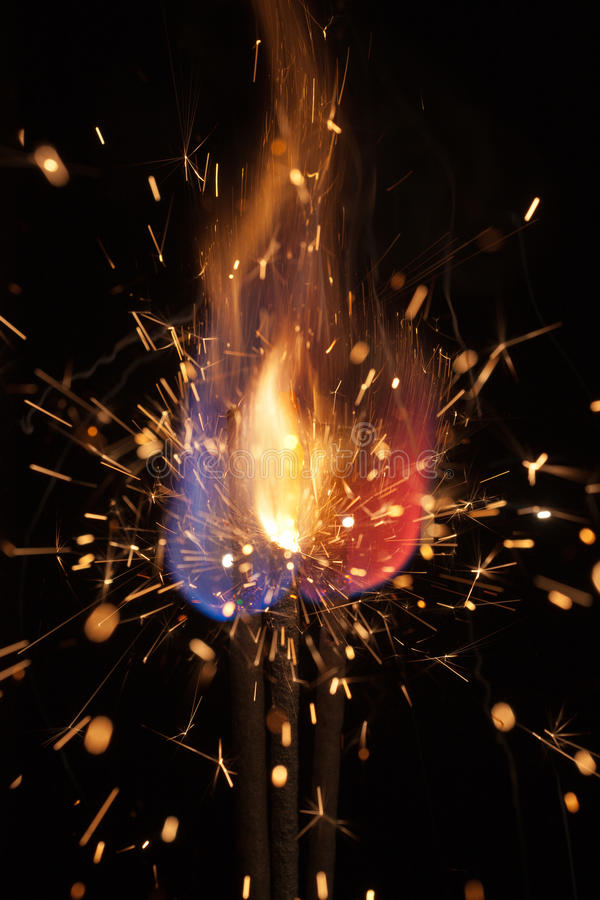 Download Pyrotechnic Burning Fire And Sparks Stock Image - Image: 27458521