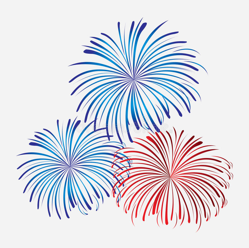 Pyrotechnic fires. Over white background vector illustration vector illustration