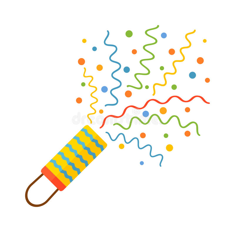 Pyrotechnics and fireworks icon stock illustration