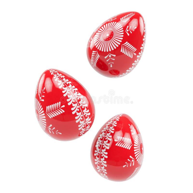 Pysanka ucraino delle uova di Pasqua 3d illustrazione vettoriale