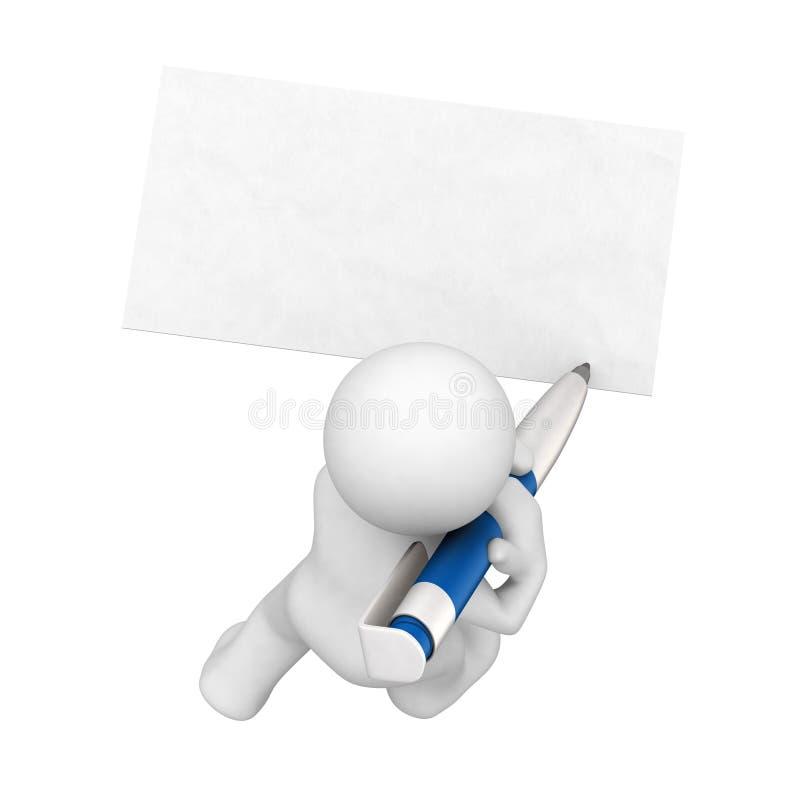 pysslingar för blankt kort stock illustrationer