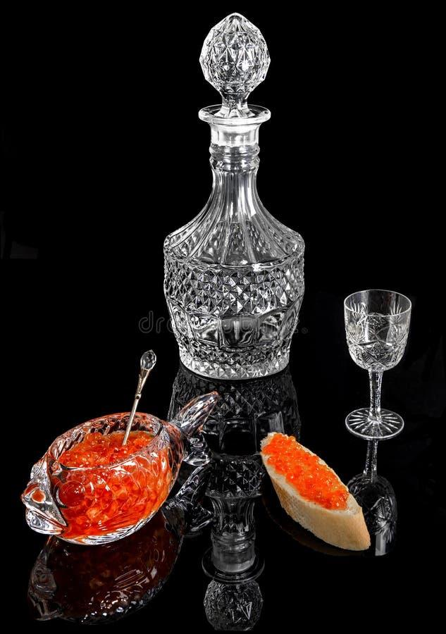 Pyszne aperitif z czerwonym kawiorem obrazy stock