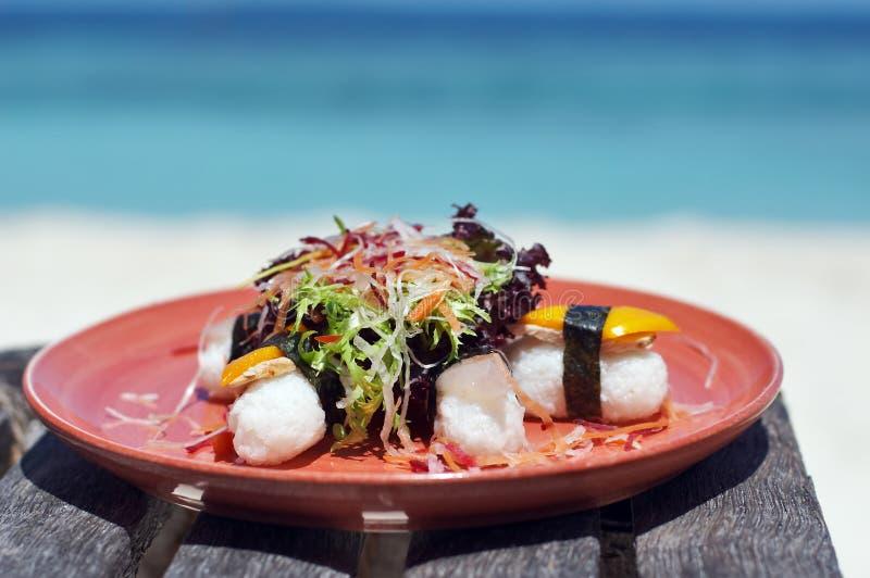 pyszne lunchu sushi obrazy stock