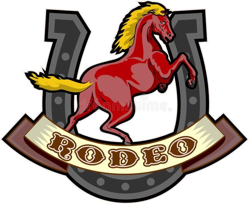 pysznienia koński rodeo royalty ilustracja