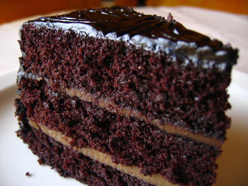 pyszny czekoladowy tort zdjęcie stock