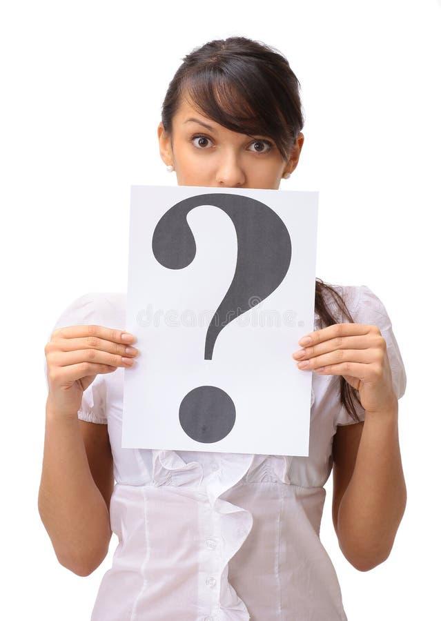 pytać biznesowej kobiety obraz stock
