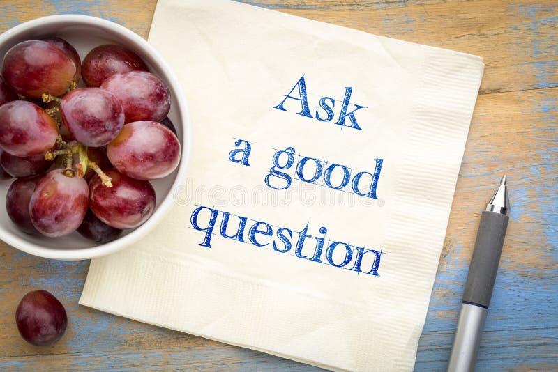 Pyta dobrego pytania przypomnienie na pielusze zdjęcie royalty free