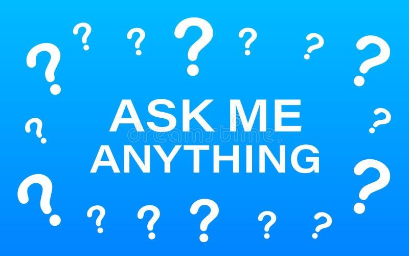 Pyta? ja cokolwiek Literowanie dla twój bloga dla online sklepu dla etykietek i sztandarów, Wektoru akcyjny illustrtaion ilustracja wektor