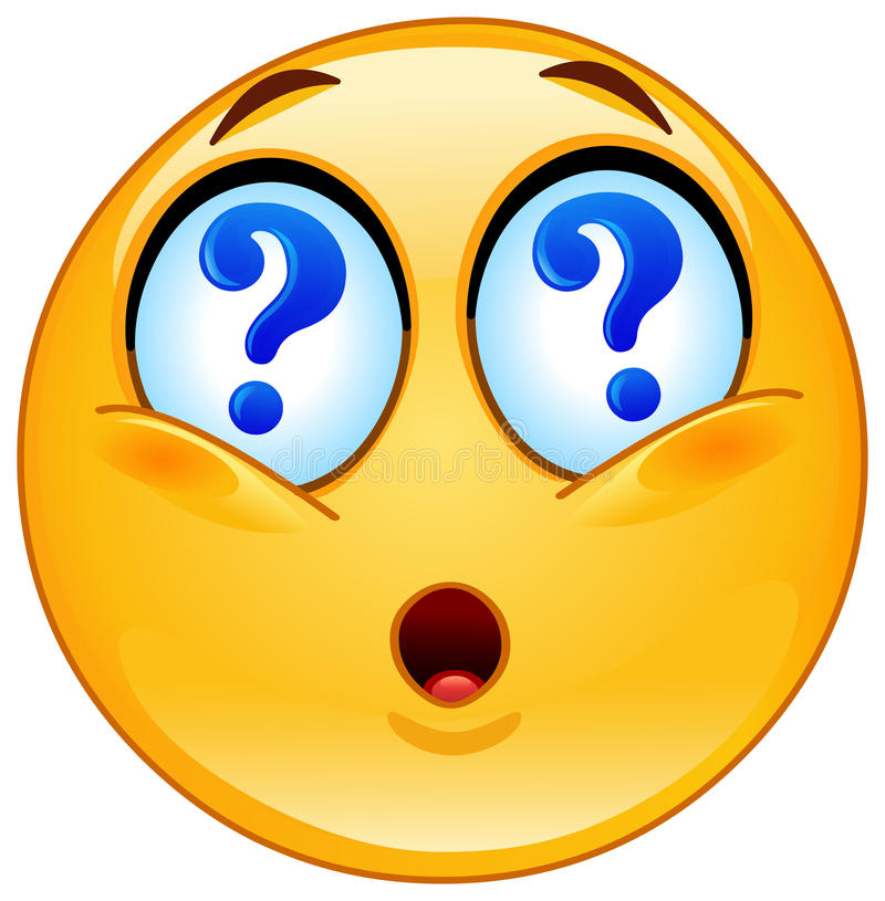 Pytania emoticon ilustracja wektor
