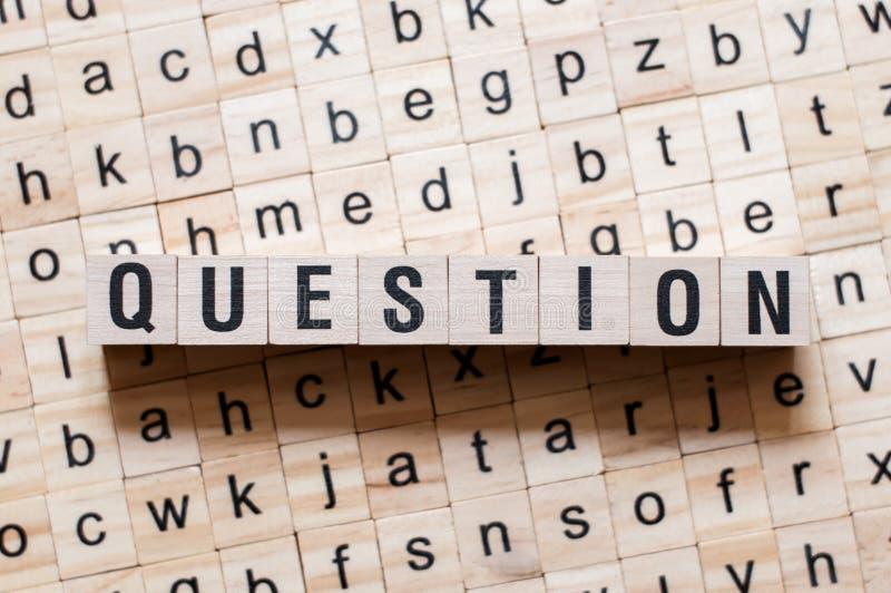 Pytania słowa pojęcie zdjęcie stock